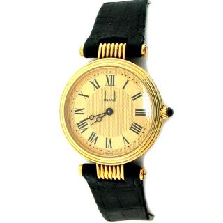 Vintage Dunhill Ladies Watch 18K Yellow Gold Case
