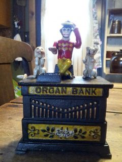 Kyser and Rex Organ Cast Iron Bank