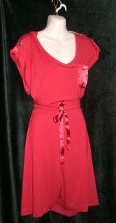 Lane Bryant Womens Plus 26 28 Red Coolot Dress $49