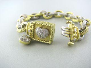 Stambolian 18K Gold Diamond Heart Charm Bracelet