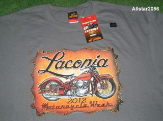 2012 LACONIA NH BIKE WEEK T SHIRT X LARGE GRAY BRAND NEW MOTORCYCLE