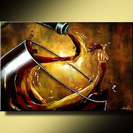 Woman Man Love Wine Art Giclee of Leanne Laine Painting
