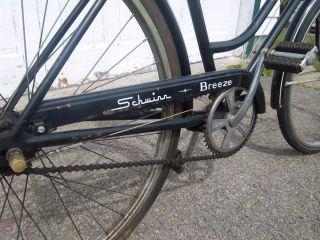 Schwinn Breeze Vintage Ladies 3 Speed Bicycle Rare Black 1969 Model