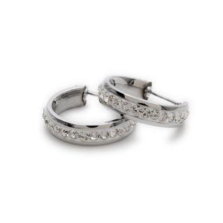 Stainless Steel Crystal Studs Hoop Dangle Ladies Earrings E202
