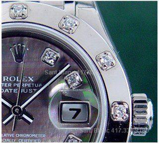 Ladies Rolex 18kt WG Pearlmaster MOP Diamond 80319 Sant Blanc