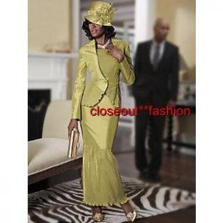 Ashro Closeout Misses size 16 Formal Virginia Skirt Suit Gold Event