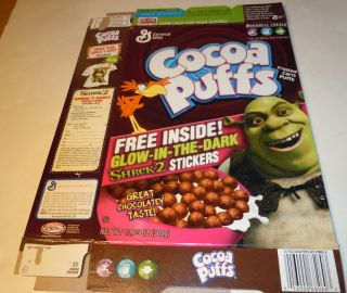 2005 General Mills Cocoa Puffs Cereal Box Shrek 2