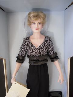 Princess Diana Nobility Doll Franklin Mint New In Box Never Removed