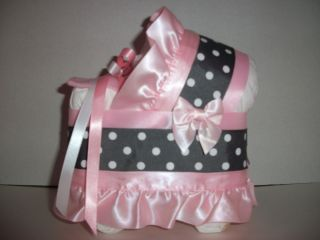 Polka Dots Dot Girl Diaper Bassinet Baby Shower Centerpiece