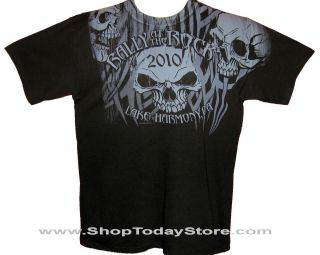 Lake Harmony Motorcycle Biker Short Sleeve Men Shirt L
