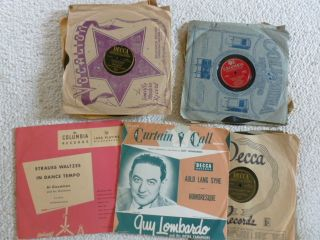 Collector Records Lot of 14 Al Jolson Guy Lombardo Ernest Tubb and