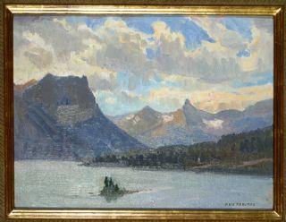 Ray Roberts Oil Painting Lake McDonald at Glacier