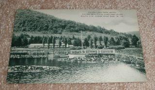 Horse Shoe Run WV Silver Lake Park Motel Vintage B w Artvue Postcard