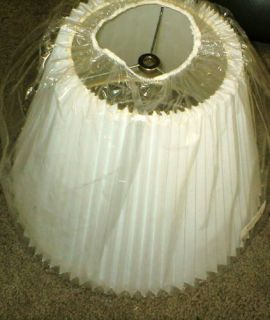 White Pleated Lamp Shade 13 79 3514X13D