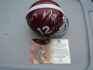 Eddie Lacy T J Yelden Signed Alabama Crimson Tide Helmet GA GAI Global