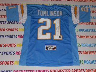 LADAINIAN TOMLINSON auto signed Chargers Powder Blue Jersey TOMLINSON