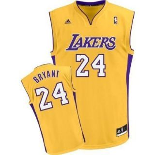 Los Angeles Lakers Kobe Bryant Youth Size x Large Gold Adidas Jersey