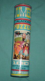 Vintage 70s Aladdin & His Lamp Jigsaw Puzzle 100 Piece 16X24 Complete