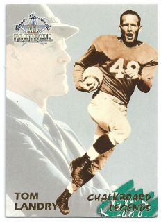 Tom Landry Dallas Cowboys Chalkboard Legend Ted Williams Card Co 66 NM