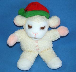 Avon 12 Lamb Chop Hand Puppet Plush Shari Lewis Santa