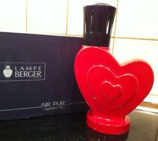 New Lampe Berger Catalytic Fragrance Lamp La Coeur Red Heart