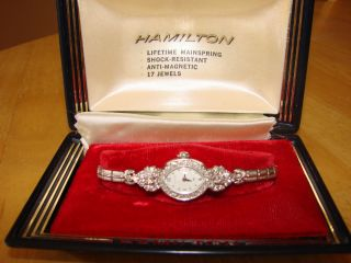 Hamilton Vintage Ladies Diamond Watch