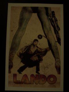 Lando Calrissian Print Hand Signed by Artist Michael Champion