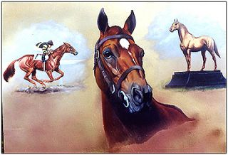 Man O War Original Tribute Oil Painting by Larimore