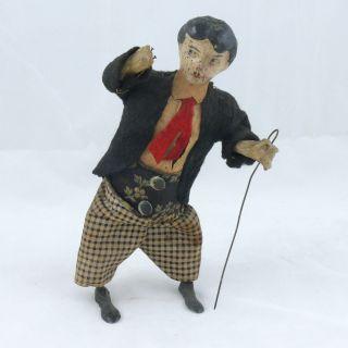 Tin Windup Charlie Chaplin Toy Possibly by Ferdinand Martin Circa 1915