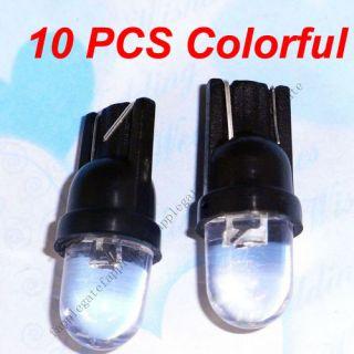 10 x Colorful T10 Bulbs LED Wedge Car Light Bulbs Lamp