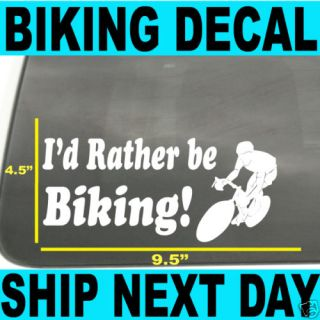 Cycling Vinyl Car Window Decal Bike Lance Livestrong