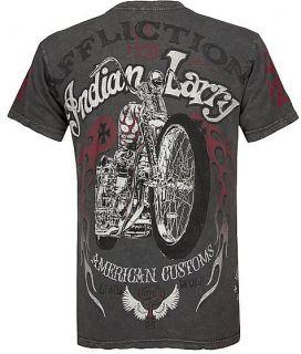 American Customs Indian Larry Gray Shirt M Medium NWT MSRP 58 A4922