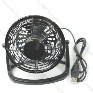 Black Mini Desktop Laptop Fan Desk Table Power F PC USB