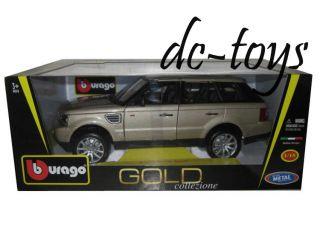 Bburago Land Rover Range Rover Sport 1 18 Diecast Gold