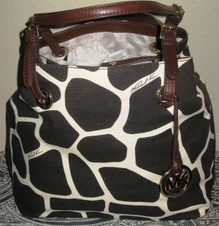 Michael Kors Brown Item Giraffe Tote Grab Bag Handbag Shoulderbag Hobo