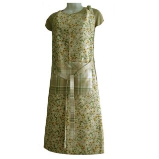 Laura Ashley Home Country Kitchen Cotton Bib Apron Long