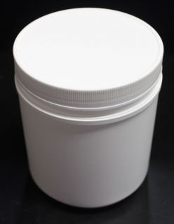 Large White Plastic Container with Lid