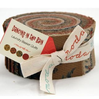 The Rain Jelly Roll by Laundry Basket Quilts for Moda Fabrics