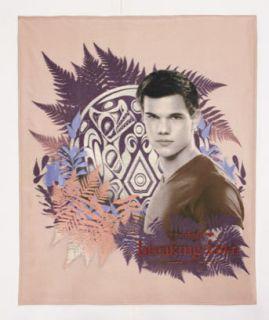 Twilight Saga Breaking Dawn TAYLOR LAUTNER Jacob Fleece Throw Blanket