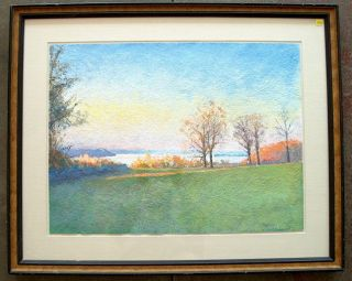 Larry DAmico Hudson River Landscape Painting Listed
