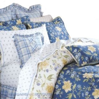 Laura Ashley Emilie Bedding Collection in Blue   Queen *MISSING PILLOW