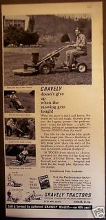 1962 Gravely Tractors for Lawn Care Vintage Ad