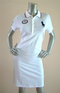 Ralph Lauren Blue Label 2012 Olympics Big Pony White London Polo Dress