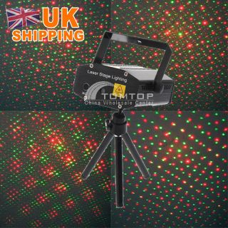 Mini Laser Stage Lighting Disco Party DJ Red Green Effect Light Black