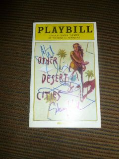 Cities Signed Playbill Off Broadway Stockard Channing Linda Lavin