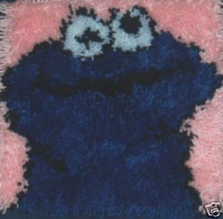 Cookie Monster 12x12 Latch Hook Kit Free