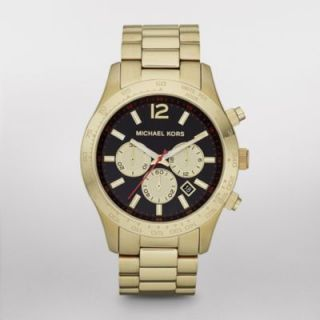 New Michael Kors MK8246 Layton Gold Tone Chronograph Watch