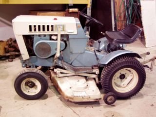 Garden Tractor Lawn Mower w 3 Point Hitch Implement Attachments