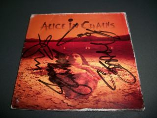 Alice In Chains Signed Dirt Cd Layne Staley Mike Starr ALL 4 ORIGINAL
