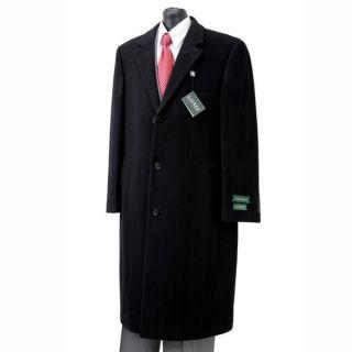 Lauren by Ralph Lauren Overcoat Columbia Cashmere Wool Blend Black Top